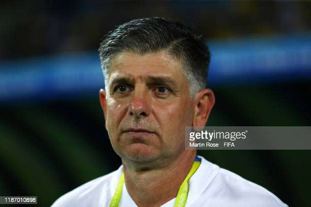 Guilherme Dalla Dea Coach of Brazil during the FIFA U17 World Cup Quarter Final match between Italy and Brazil at the Estádio Olímpico Goiania on...