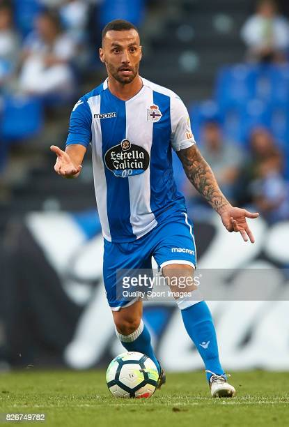 Guilherme dos Santos of Deportivo de La Coruna in action during the Pre Season Friendly match between Deportivo de La Corua and West Bromwich Albion...