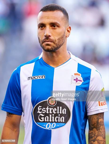 Guilherme Dos Santos of Deportivo de La Coruna looks on prior to the Pre Season Friendly match between Deportivo de La Coruna and West Bromwich...
