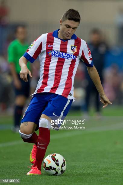 Guilherme Madalena Siqueira of Atletico de Madrid controls the ball during the La Liga match between Club Atletico de Madrid and SD Eibar at Vicente...