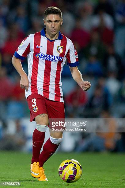 Guilherme Madalena Siqueira of Atletico de Madrid controls the ball during the La Liga match between Getafe CF and Club Atletico de Madrid at...