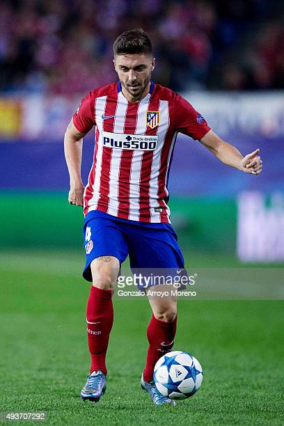 Guilherme Madalena Siqueira of Atletico de Madrid controls the ball during the UEFA Champions League Group C match between Club Atletico de Madrid...