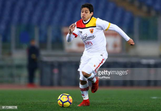 Guilherme of Benevento during the serie A match between AS Roma and Benevento Calcio at Stadio Olimpico on February 11 2018 in Rome Italy