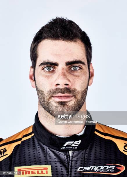 Guilherme Samaia of Brazil and Campos Racing poses for a photo prior to Round 5 of the Formula 2 Championship at Silverstone on August 06, 2020 in...
