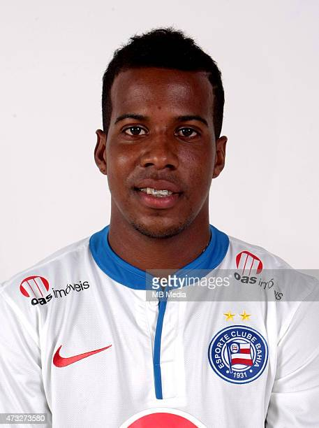 Guilherme Santos of Esporte Clube Bahia poses during a portrait session August 14 2014 in SalvadorBrazil