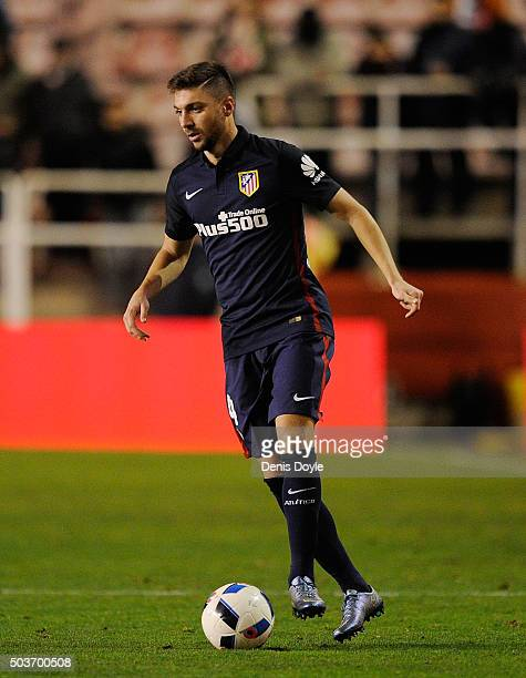 Guilherme Siqueira of Club Atletico de Madrid in action during the Copa del Rey Round of 16 First Leg match between Rayo Vallecano de Madrid and Club...