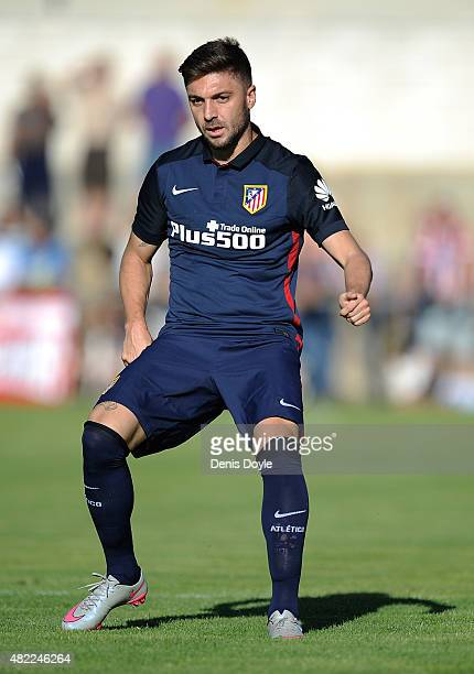 Guilherme Siqueira of Club Atletico de Madrid looks on during the Jesus Gil y Gil Memorial preseason friendly match between Numancia and Club...