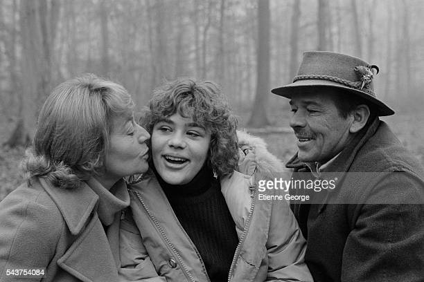 Guilia Salvatori with her parents French actress Annie Girardot and Italian actor Renato Salvatori