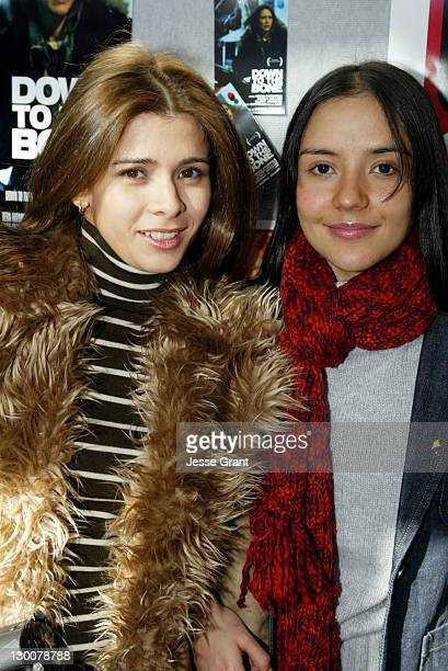 Guilied Lopez and Catalina Sandino Moreno during 2004 Sundance Film Festival Maria Full of Grace Premiere at Eccles in Park City Utah United States