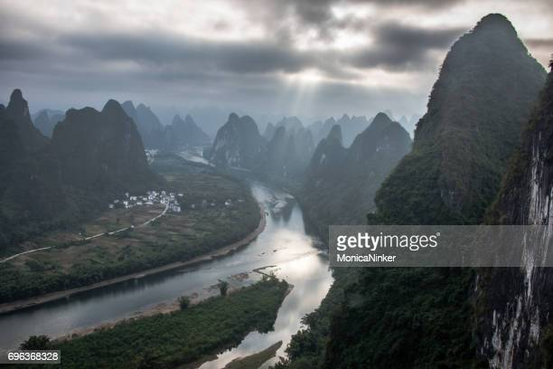 Guilin Li river and Karst mountains