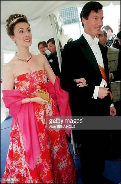 Guillaume and Sybilla of Luxembourg in Grasten, Denmark on June 06, 1998.
