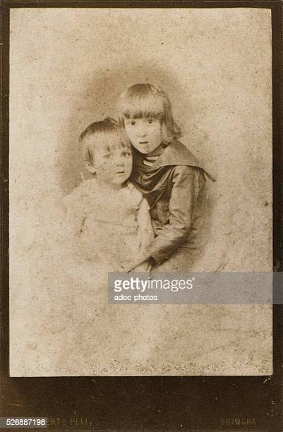 Guillaume Apollinaire with his young brother Albert in Bologna In 1885