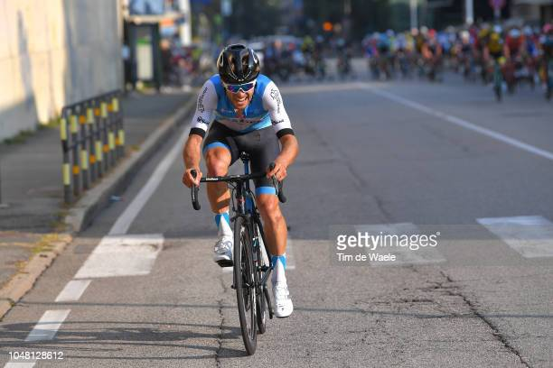 Guillaume Boivin of Canada and Team Israel Cycling Academy / during the 98th Tre Valli Varesine 2018 a 197km race from Saronno to Varese on October...