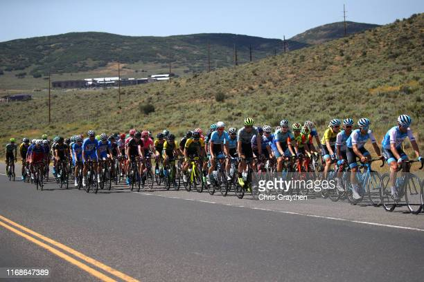 Guillaume Boivin of Canada and Team Israel Cycling Academy / Edwin Avila of Colombia and Team Israel Cycling Academy / Ben Hermans of Belgium and...