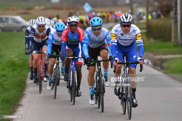 Guillaume Boivin of Canada and Team Israel Start-Up Nation / Bert Van Lerberghe of Belgium and Team Deceuninck-Quickstep / Peloton / during the 72nd...