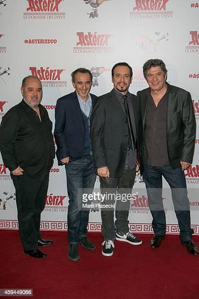 Guillaume Briat Elie Semoun Alexandre Astier and Lionnel Astier attend the 'Asterix Le Domaine des Dieux' Premiere at Le Grand Rex on November 23...