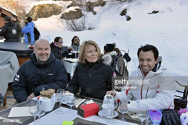Guillaume Calop Nicole Garcia and Pierre Emmanuel Fleurantin attend the 5th edition of Les Arcs European Film Festival on December 15 2013 in Les...