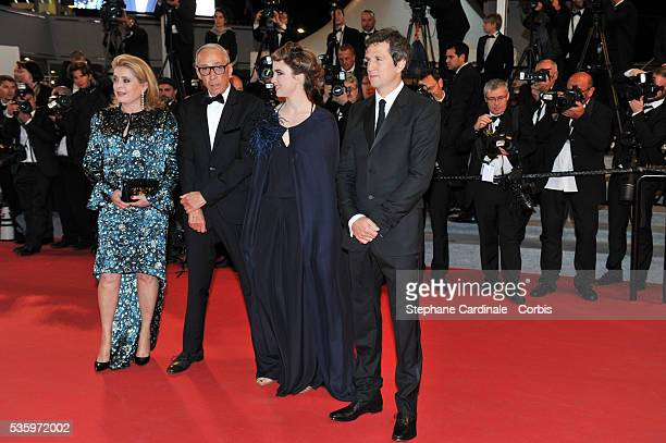 Guillaume Canet Adele Haenel Andre Techine and Catherine Deneuve at the 'L'Homme Qu'On Aimait Trop' premiere during 67th Cannes Film Festival
