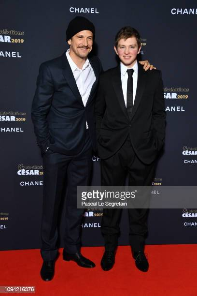 Guillaume Canet and Anthony Bajon attend the 'Cesar Revelations 2019' at Le Petit Palais on January 14 2019 in Paris France