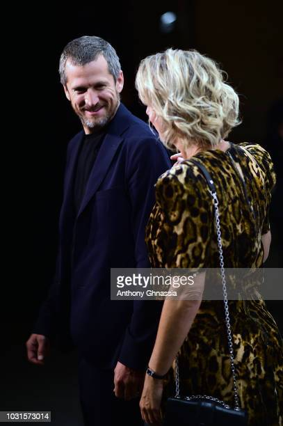 Guillaume Canet and Karin Viard attend Longchamp 70th Anniversary Celebration at Opera Garnier on September 11 2018 in Paris France