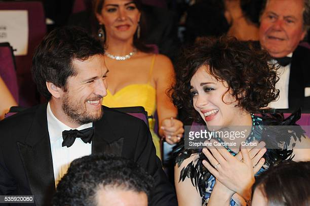Guillaume Canet and Marion Cotillard attend the Opening Ceremony of the Marrakech 10th Film Festival