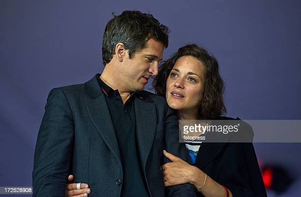 Guillaume Canet and Marion Cotillard attend the Riviera Grand Prix du Prince as part of the Longines Global Champions Tour Of Monaco 2013 on June 29...