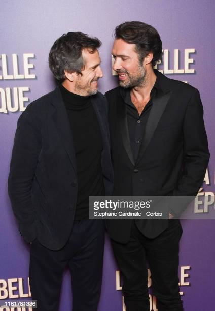 Guillaume Canet and Nicolas Bedos attend the La Belle Epoque premiere at cinema Gaumont Opera Capucines on October 17 2019 in Paris France
