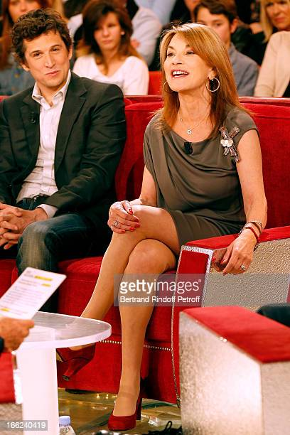 Guillaume Canet and Nicole Calfan attend 'Vivement Dimanche' French TV Show for the 80th anniversary of JeanPaul Belmondo at Pavillon Gabriel on...