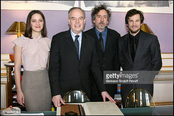 Guillaume Canet at Marion Cotillard And Tim Burton Honoured With The Titles Chevalier Des Arts Et Lettres At The French Culture Ministry In Paris