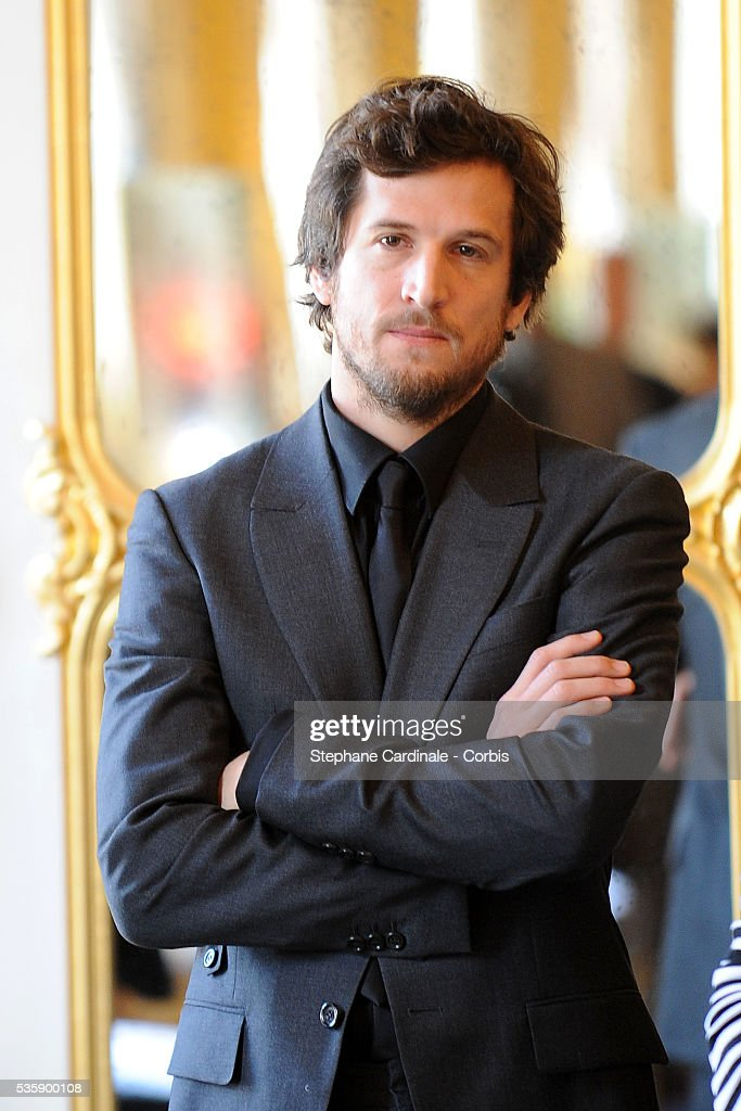 Guillaume Canet attends the ceremony during which Marion Cotillard and Tim Burton were awarded the Order Of Arts and Letters, at the Department of Culture in Paris.