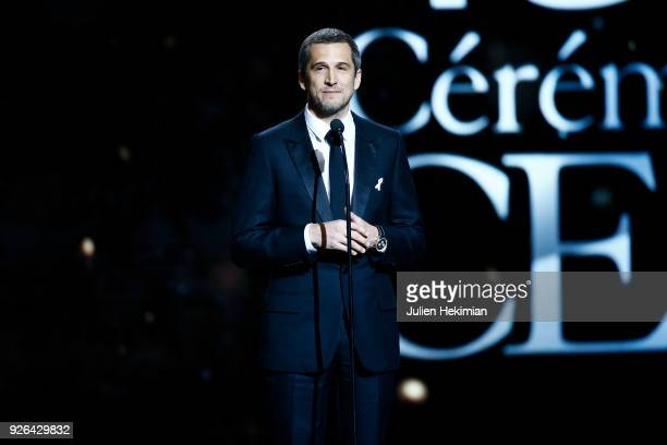 Guillaume Canet speaks on stage during the Cesar Film Awards 2018 at Salle Pleyel on March 2 2018 in Paris France