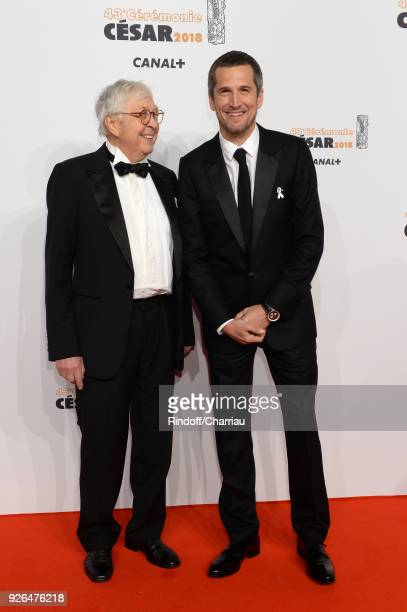 Guillaume Canet with his father Philippe Canet arrive at the Cesar Film Awards 2018 at Salle Pleyel on March 2 2018 in Paris France