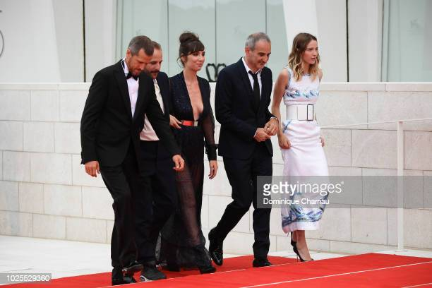 Guillaume Cannet Vincent Macaigne Nora Hamzawi Olivier Assayas and Christa Theret walk the red carpet ahead of the 'Doubles Vies ' screening during...