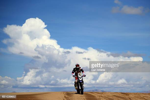 Guillaume Chollet of France and Yamaha SP HFP rides a YZF Yamaha bike in the Classe 21 Super Production during stage four of the 2017 Dakar Rally...