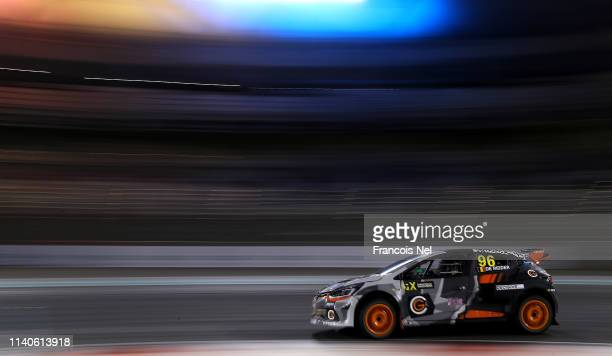 Guillaume De Ridder of Belgium driving the Renault Clio GCK Academy during the FIA World Rallycross Championship Abu Dhabi at Yas Marina Circuit on...