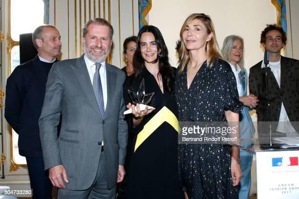 Guillaume de Seynes 'Prix Accessoires de Mode' Jewelry Designer Ana Khouri and Creator of the Price Nathalie Dufour 'Grand Prix' Glenn Martens attend...