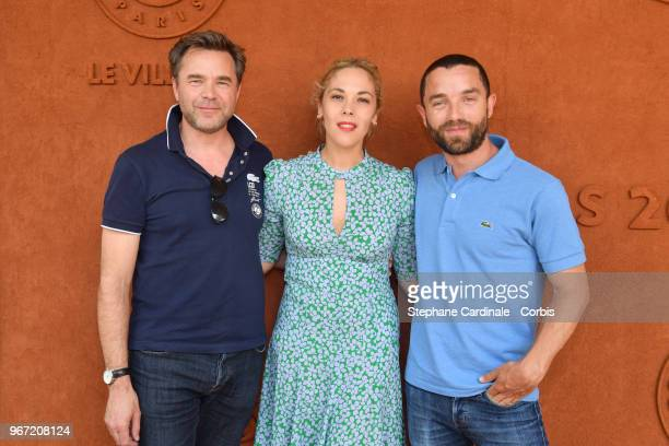 Guillaume de Tonquedec Alysson Paradis and her companion Guillaume Gouix attend the 2018 French Open Day Nine at Roland Garros on June 4 2018 in...