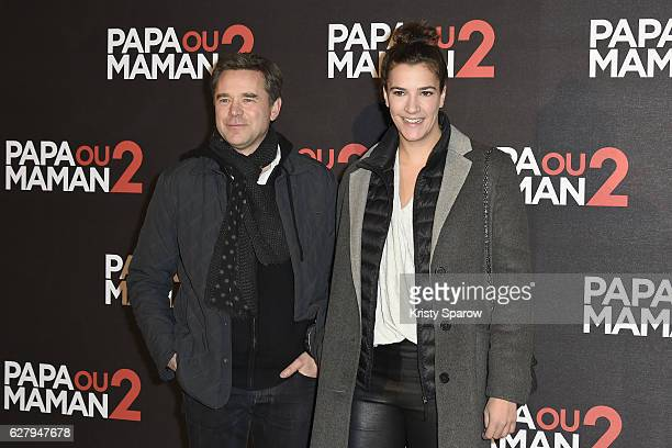 Guillaume de Tonquedec and guest attend the 'Papa ou Maman 2' Paris Premiere at Cinema Gaumon Alesia on December 5 2016 in Paris France