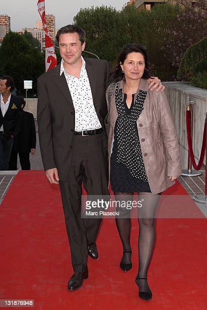 Guillaume de Tonquedec and his wife attend the 25th Moliere Awards Ceremony on April 17 2011 in Creteil France