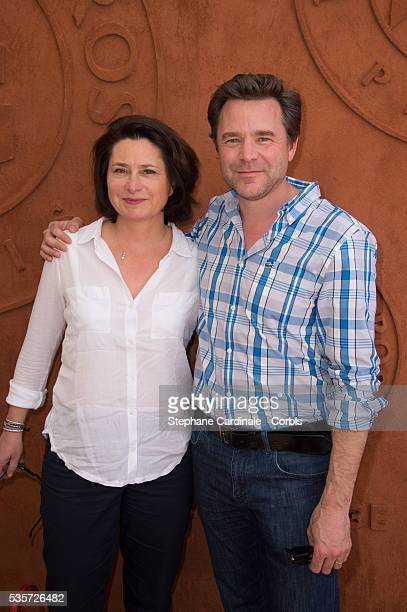 Guillaume de Tonquedec and his Wife attend the Roland Garros French Tennis Open 2014