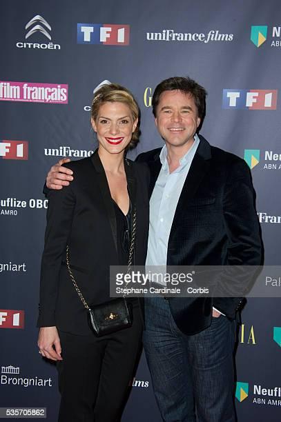 Guillaume De Tonquedec and Judith El Zein attend the Trophees Du Film Francais 20th Ceremony at Palais Brongniart in Paris