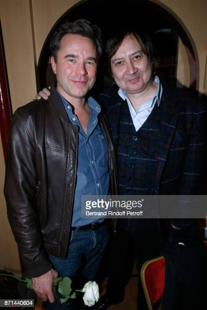 Guillaume de Tonquedec and Michel Fau attend 'Depardieu Chante Barbara' at Le Cirque d'Hiver on November 6 2017 in Paris France