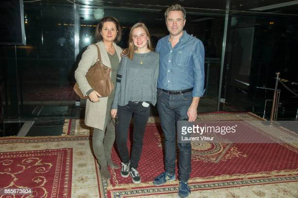 Guillaume de Tonquedec his wife Christele and his daughter Victoire attend the 30th anniversary celebration of Institut du Monde Arabe Institut du...