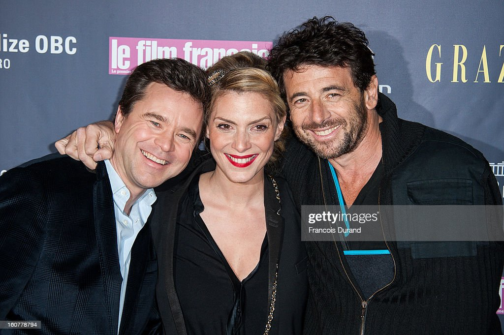 Guillaume De Tonquedec, Judith El Zein and Patrick Bruel attend the 'Trophees Du Film Francais' 20th Ceremony at Palais Brongniart on February 5, 2013 in Paris, France.