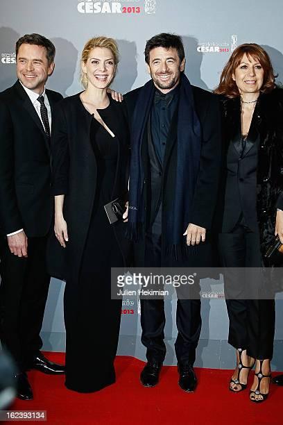 Guillaume de Tonquedec Judith El Zein Patrick Bruel and Valerie Benguigui attend the Cesar Film Awards 2013 at Theatre du Chatelet on February 22...