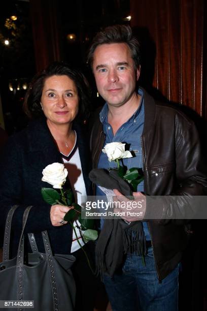 Guillaume de Tonquedec with his wife Christelle attend 'Depardieu Chante Barbara' at Le Cirque d'Hiver on November 6 2017 in Paris France