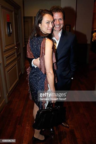 Guillaume Debre and his wife attend the FrenchAmerican Foundation Gala Dinner at Salle Wagram on November 7 2014 in Paris France