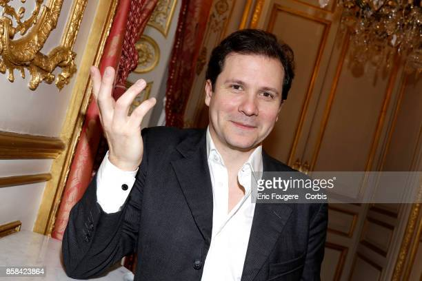 Guillaume Debre son of JeanLouis Debre poses during a portrait session in Paris France on