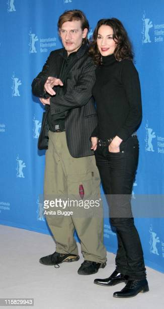 Guillaume Depardieu and Jeanne Balibar during The 57th Annual Berlinale International Film Festival 'Don't Touch The Axe' Photocall and Press...
