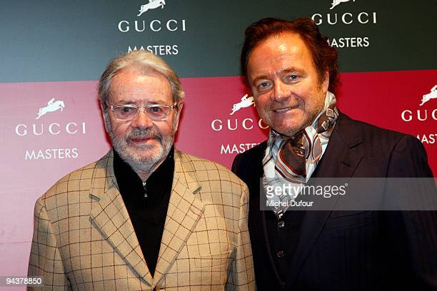 Guillaume Durand and his father attend the International Gucci Masters Competition - Day 4 at Paris Nord Villepinte on December 13, 2009 in Paris,...
